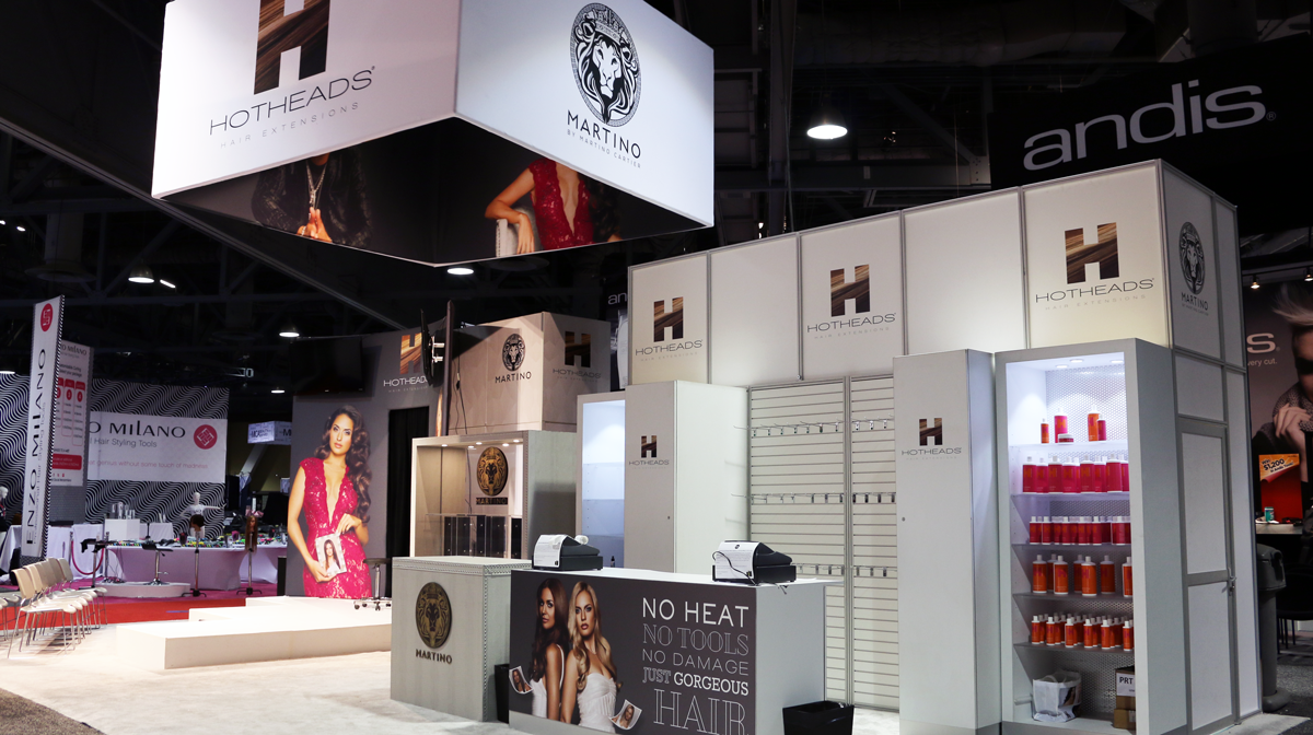 Hotheads Extensions Booth Design